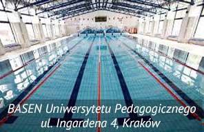 Basen Uniwersytetu Pedagogoczinego na którym prowadzimy naukę pływania w Krakowie
