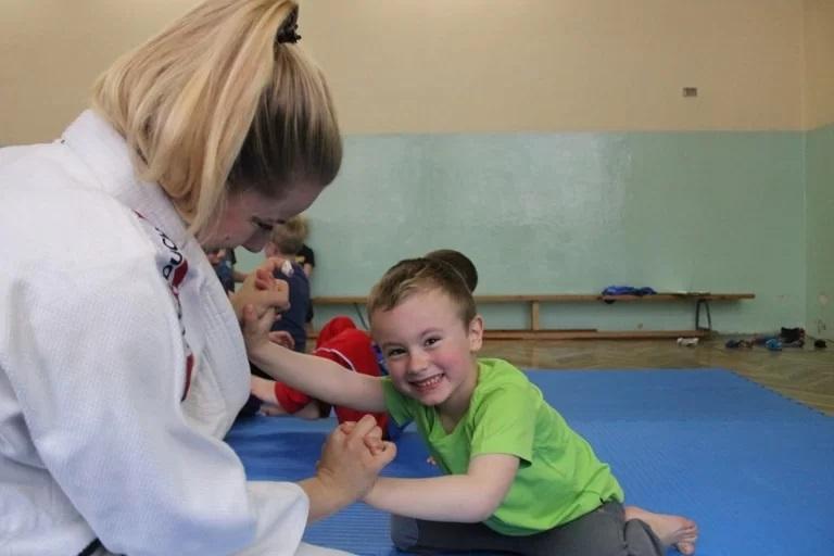 Trening dziecka podczas judo
